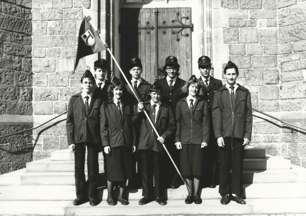 Jugendfeuerwehr Bischweier im Jubiläumsjahr (1990) ©Feuerwehr Bischweier
